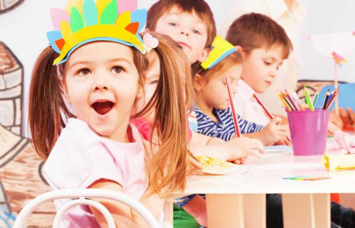 happy preschool student