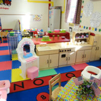 Three's & Four's Preschool Classroom - Play-dough, Sand-table, Snack area, and our Home learning station