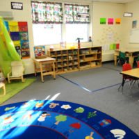 Five's Pre-kindergarten Classroom - Quiet Area and Building learning station