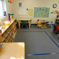 Five's Pre-kindergarten Classroom - Journal area and Land of the Little People learning stations